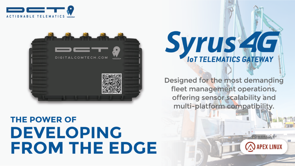 DCT introduces Syrus 4G IoT Gateway