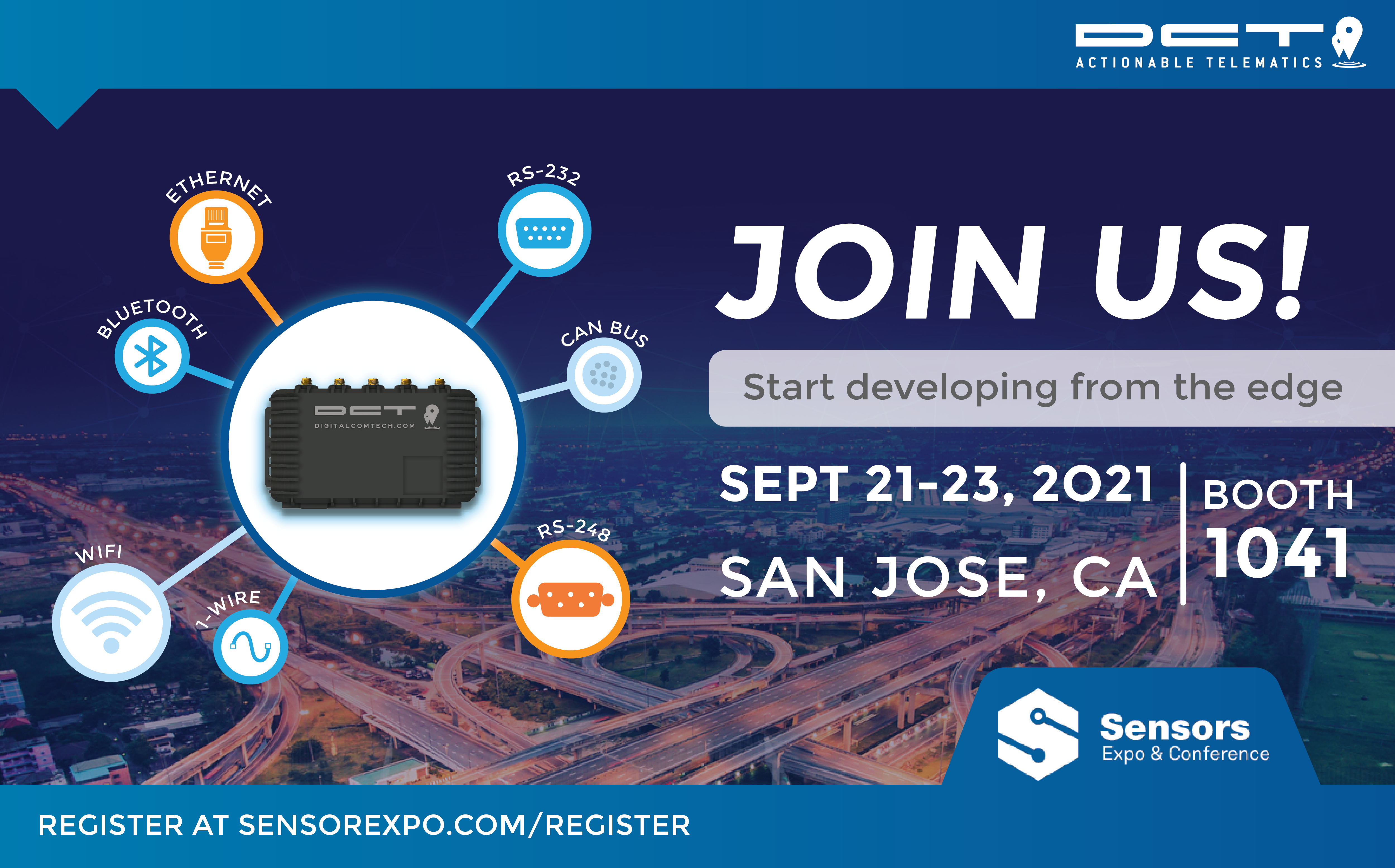 DCT at Sensors Expo & Conference